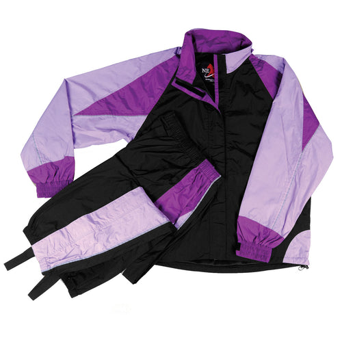 NexGen Ladies SH2332 Black and Purple Water Proof Rain Suit