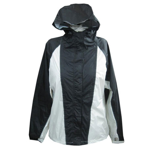 NexGen Ladies SH2333 Beige and Black Hooded Water Proof Rain Suit