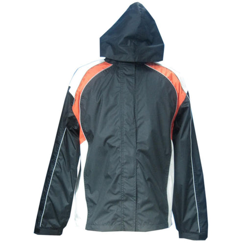 NexGen Ladies SH2349 Black, Beige and Orange Hooded Water Proof Rain Suit