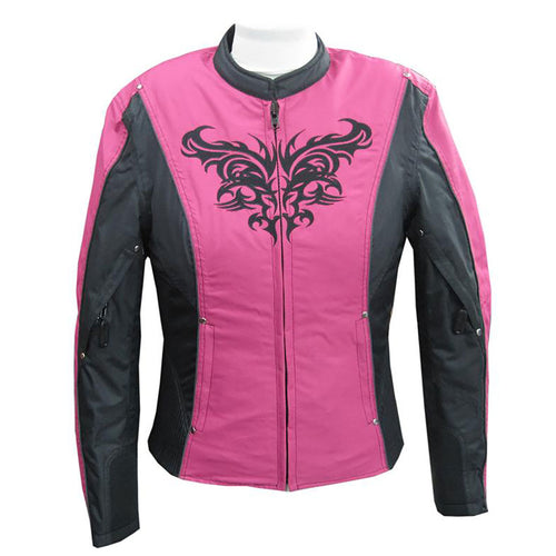 NexGen SH2367 Ladies Turquoise and Fuchsia Textile Jacket with Embroidery Artwork