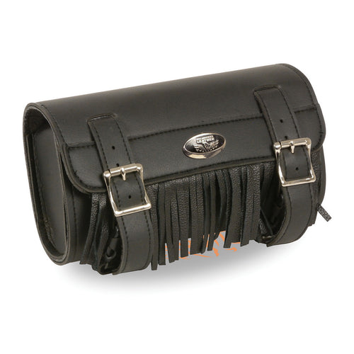 Milwaukee Performance SH498 Black PVC Large Two Buckle Fringed Tool Bag with Quick Release
