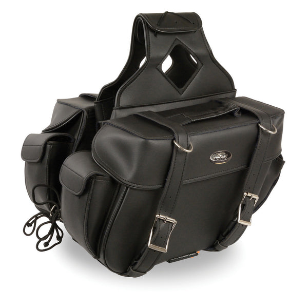 Milwaukee Performance SH57403ZB Black Medium Zip-Off PVC Throw Over Two Strap Saddlebags