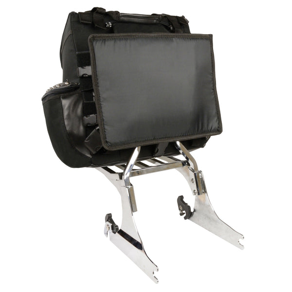 Milwaukee Performance SH602S Black Textile Medium Two Piece Studded Touring Sissy Bar Bag