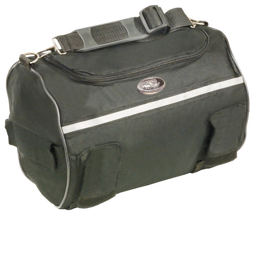 Milwaukee Leather SH608 Black Textile Roll Bag with Reflective Material