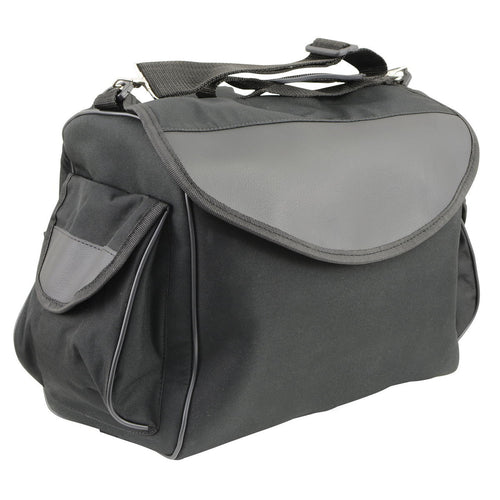 Milwaukee Leather SH630 Black Medium Textile Sissy Bar Duffle Bag
