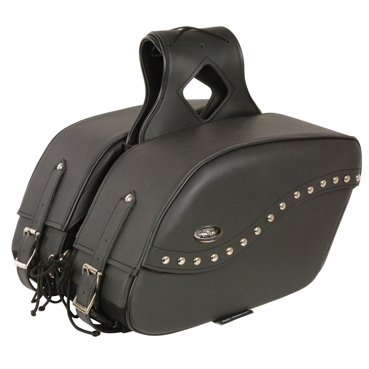 Milwaukee Leather SH646ZB Black Zip-Off PVC Studded Throw Over