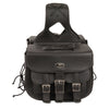 Milwaukee Performance SH67001ZB Black Straight Drop Zip-Off Triple Strap PVC Throw Over Saddlebags