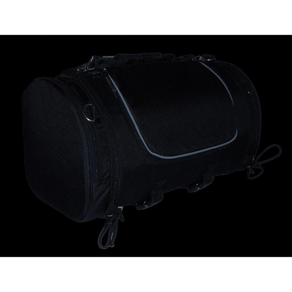Milwaukee Performance SH683 Black Large Textile Duffel Style Sissy Bar Bag with Carry Strap