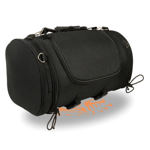 Xelement X-683 Black Large Textile Motorcycle Tour Duffle Roll Bag