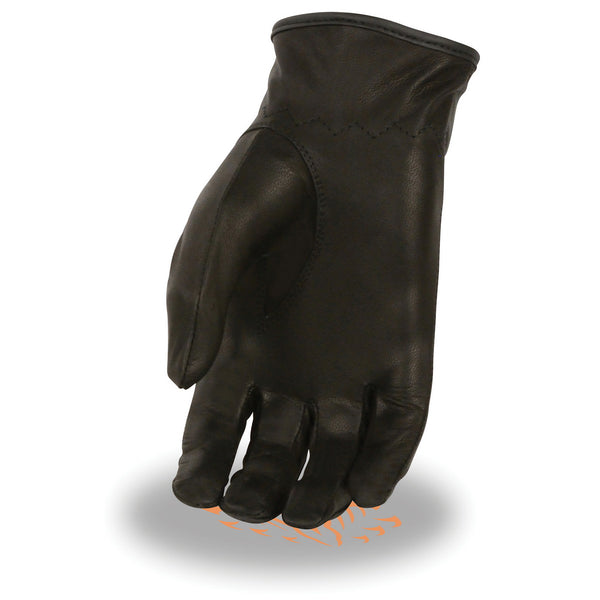 Milwaukee Leather SH721 Ladies Black Leather Unlined Classic Driving Gloves