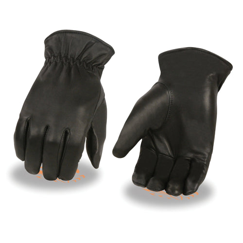 Milwaukee Leather SH734 Men's Black Leather Thermal Lined Gloves with Cinch Wrist