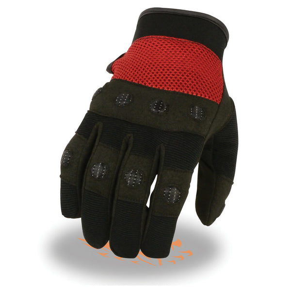 Milwaukee Leather SH76102 Men's Black and Red Textile Motorcycle