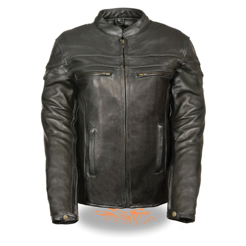 Milwaukee Leather SH8011 Ladies Black Sporty Scooter Crossover Leather Jacket
