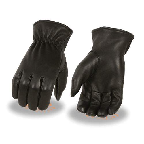 Milwaukee Leather SH858 Men's Black  Deerskin Thermal Lined Gloves with Cinch Wrist