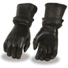 Milwaukee Leather SH870 Ladies Deerskin Gauntlet Gloves with  Zip Off Cuff  and Gel Palm