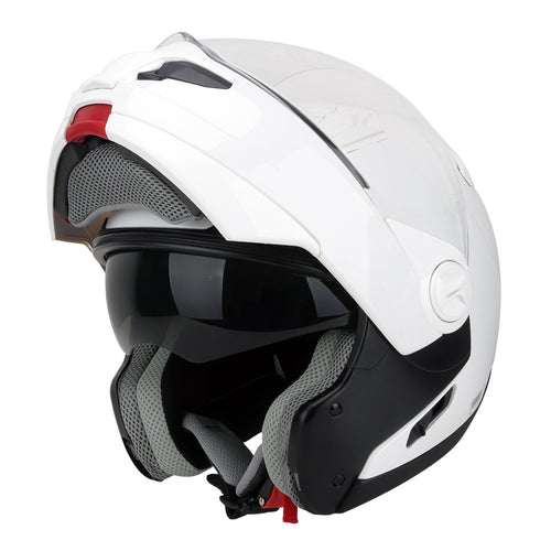 Hawk ST-1198 Transition 2 in 1 White Modular Motorcycle Helmet