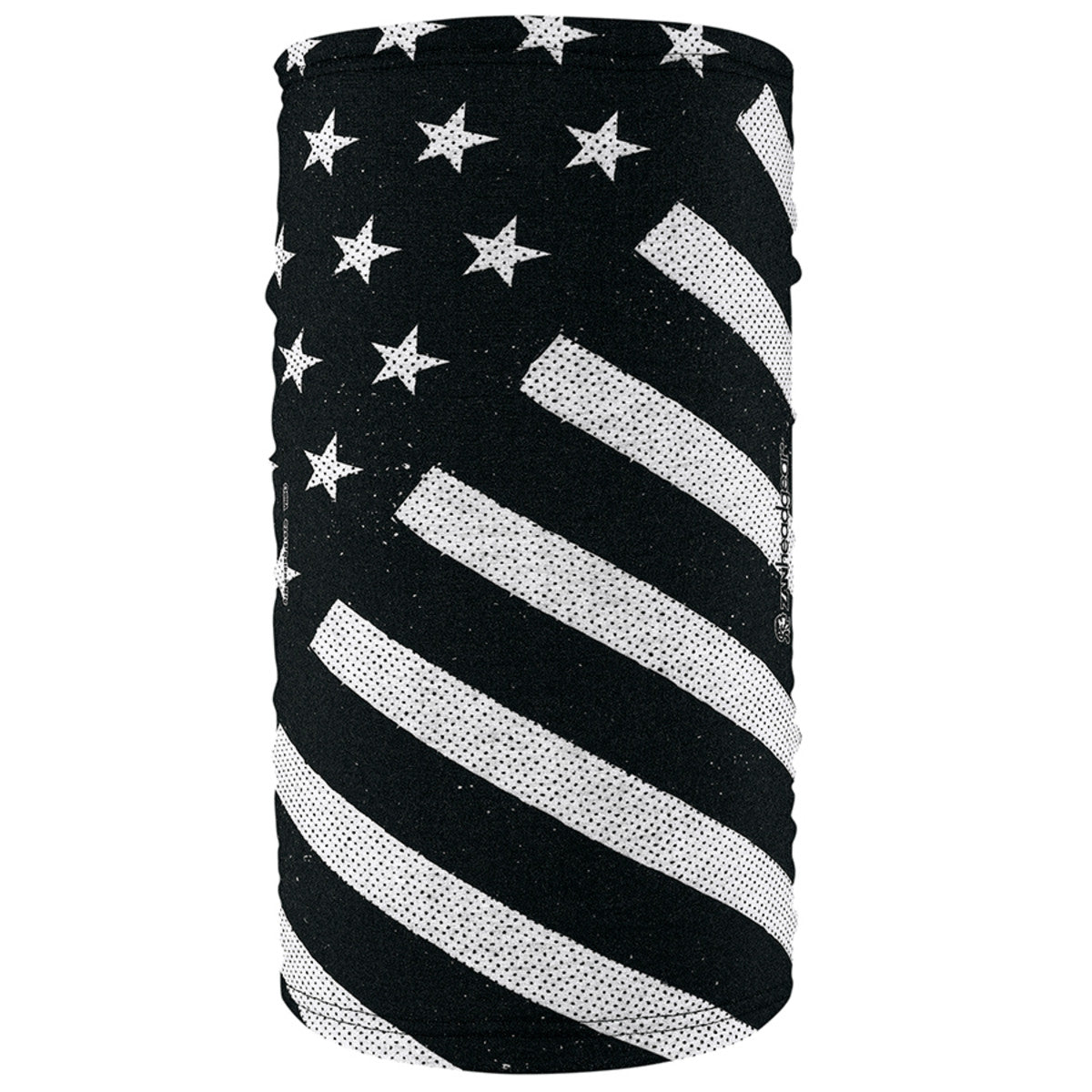 Zan Headgear TF091 Unisex  Black And White Flag Motley Tube
