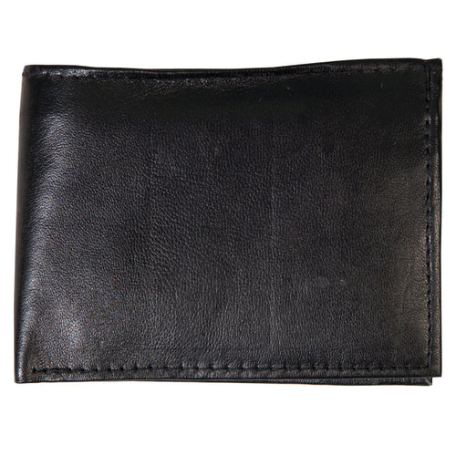Hot Leathers WLD1001 Black Leather Bi-Fold Wallet