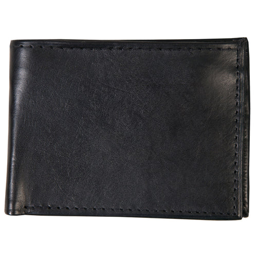 Hot Leathers WLD1003 Black Leather Bi-Fold Wallet with Picture Flap