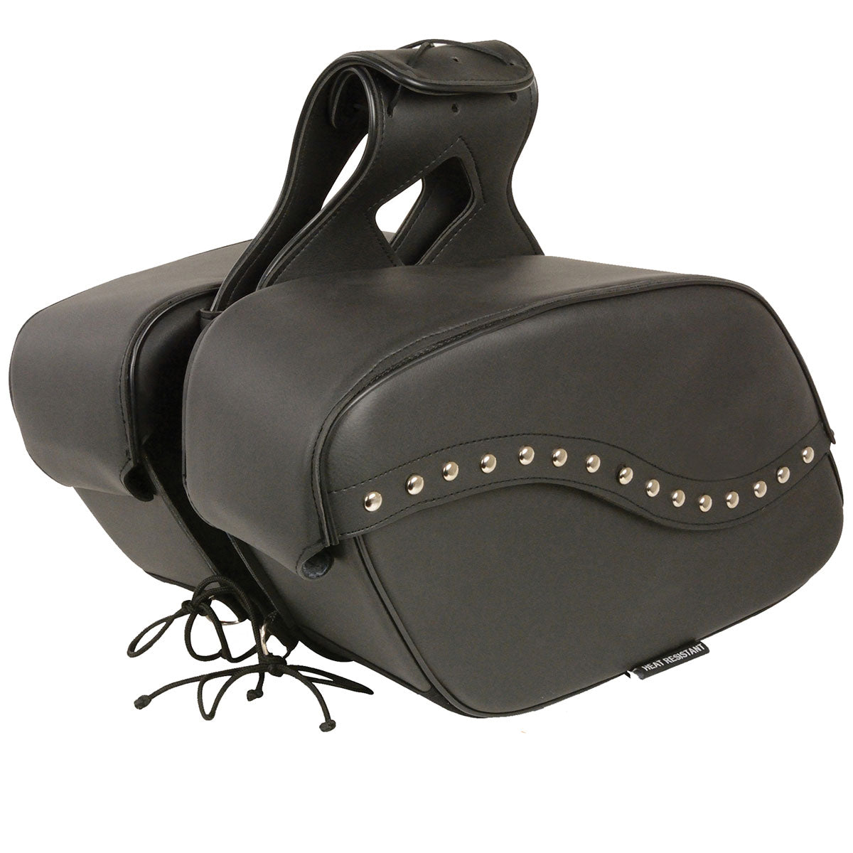 Xelement X646ZB Zip-Off PVC Studded Throw Over Saddlebags