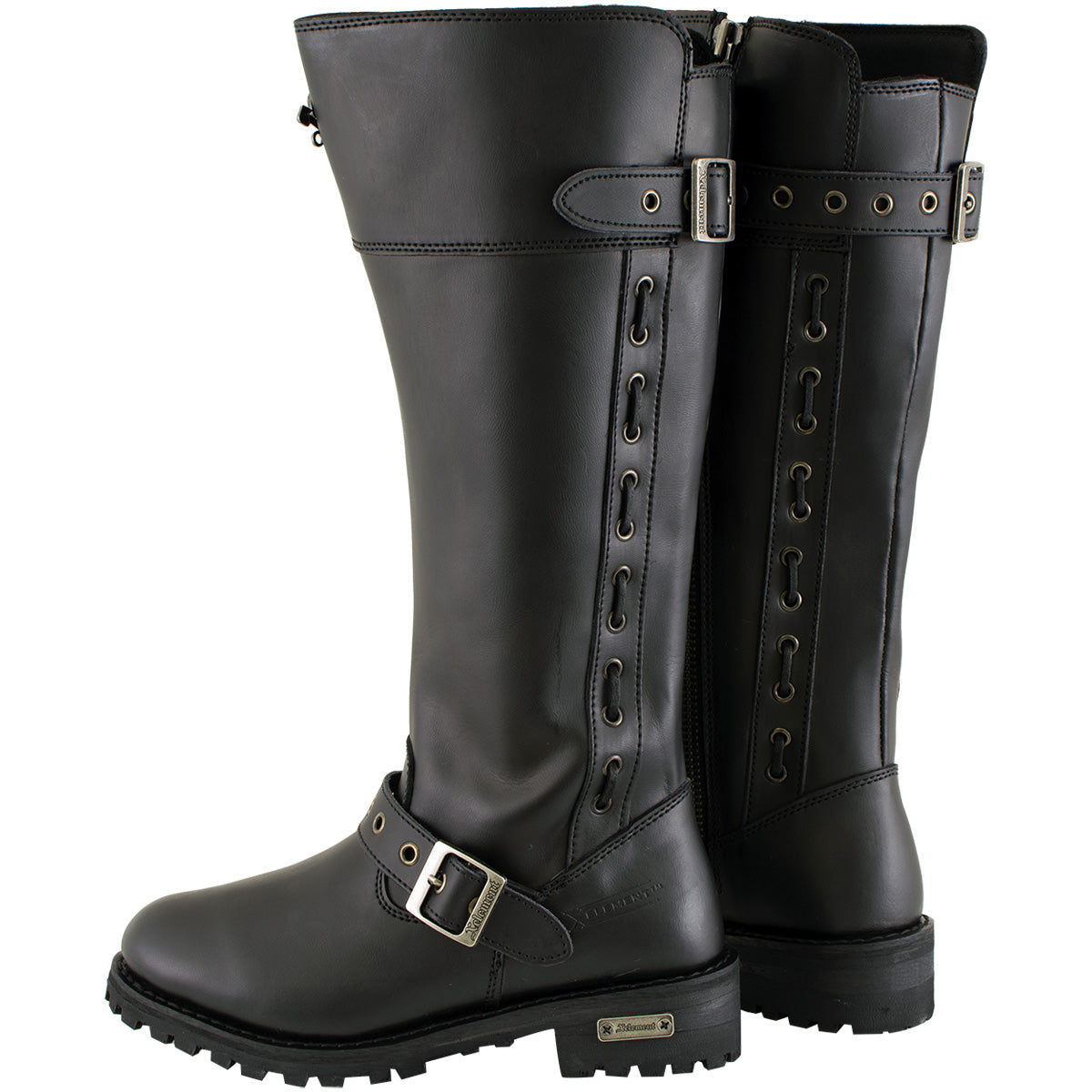 Xelement X93009 'Myna' Women's Black Performance Leather Boots