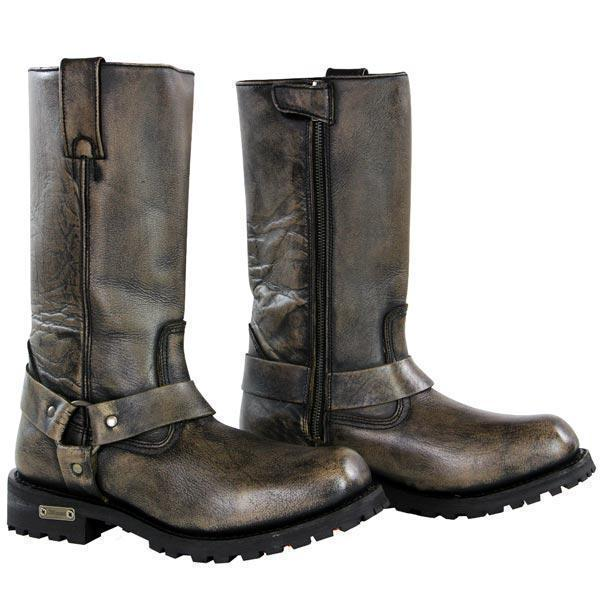 Xelement X99005 'Throttle' Mens Distressed Brown Performance Leather Boots