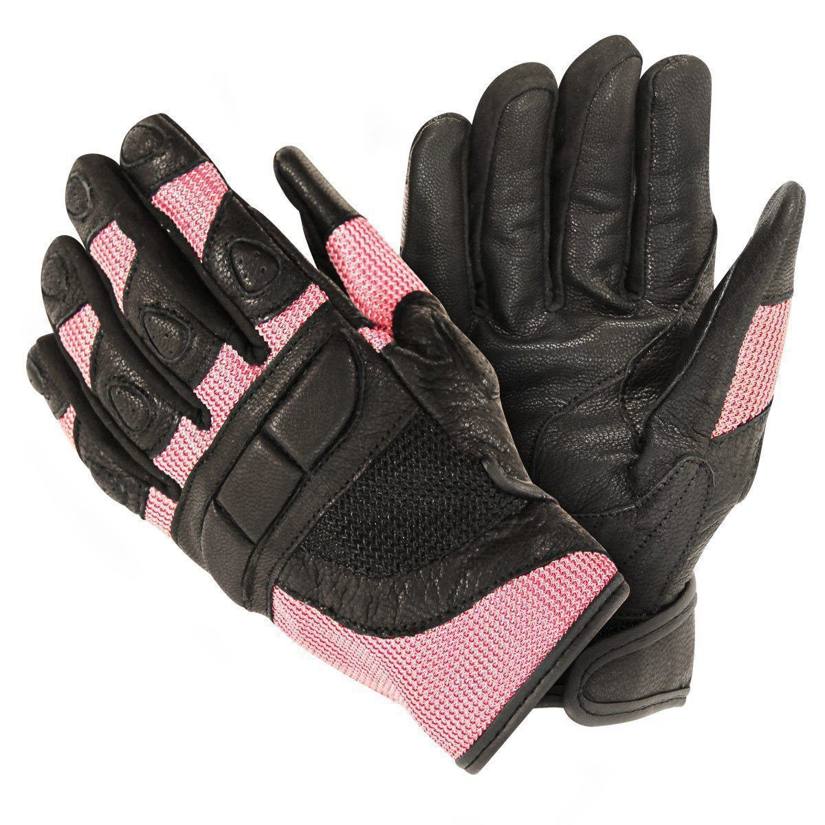 Xelement XG80206 Women's Black and Pink Mesh Cool Rider Motorcycle