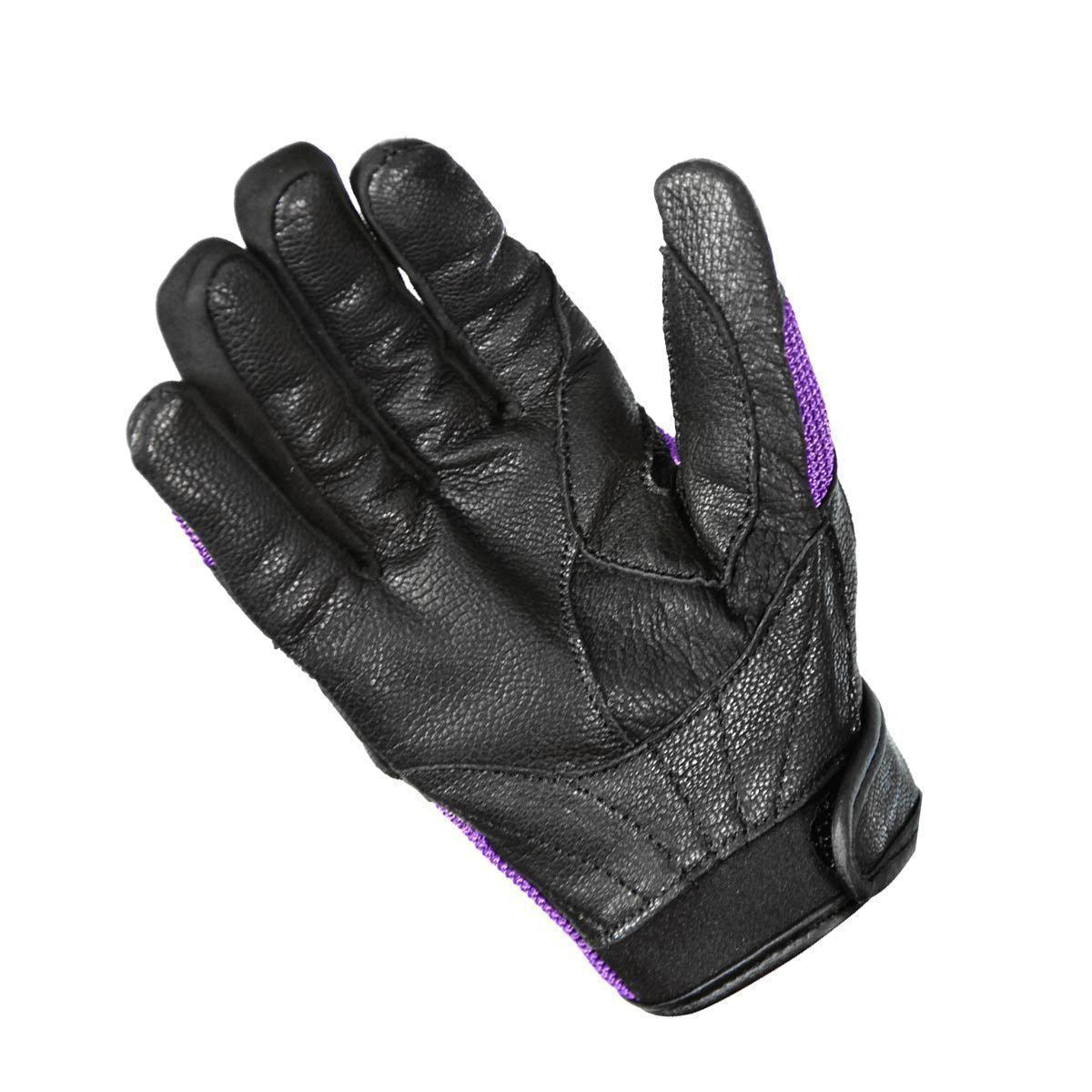 Xelement XG80208 Women's Black and Purple Mesh Cool Rider Motorcycle