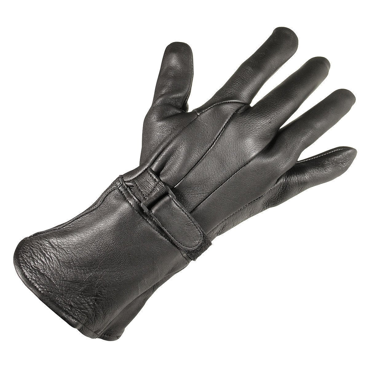 Xelement XG864 Men's Black Deerskin Leather Gauntlet Gloves