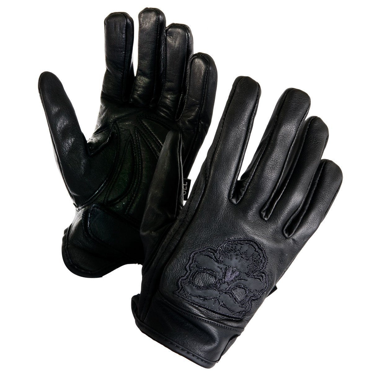 Xelement XS-7789 Men's Black Cowhide Leather Gloves with Reflective