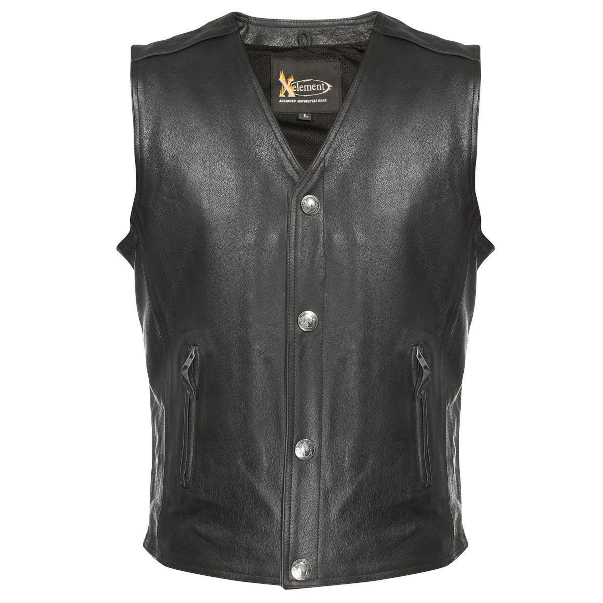 Xelement XS1378 Men's Black Gun Pocket Vest with One Panel Back