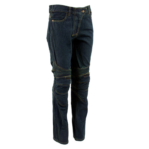 Ladies XS2823 Blue Denim Motorcycle Pants with CE Approved Armor