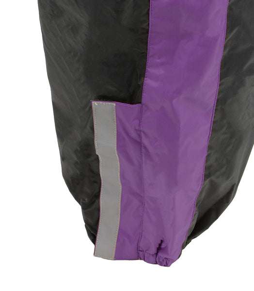 NexGen Ladies XS5001 Black and Purple Water Proof Rain Suit with
