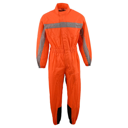 NexGen Men's XS5004 Orange Hi-Viz Water Proof Rain Suit with Reflective Panels