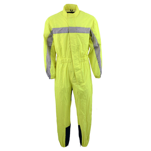 NexGen Men's XS5004 Yellow Hi-Viz Water Proof Rain Suit with Reflective Panels