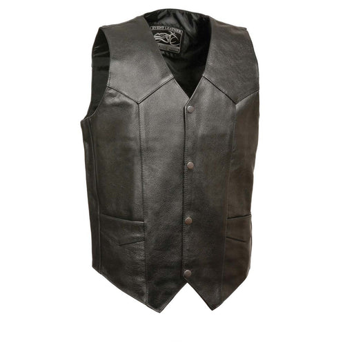 Event Leather XS5310 Men's Classic Snap Front Biker Leather Vest