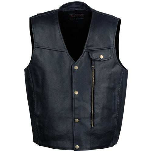 Event Leather XS5381 Men's Classic Black 'Pistol Pete' Leather Vest
