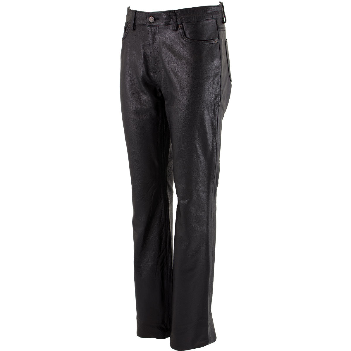 Xelement XS679 Women's Black Buffalo Leather Pants