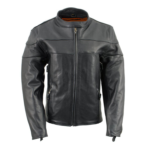 Milwaukee Leather XS7083 Ladies Black 'Euro Racing' Vented Jacket with Side Stretch