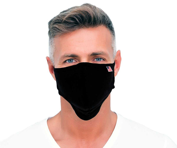 Xelement XS8002 USA Made '100 % Cotton' Black Protective Face Mask