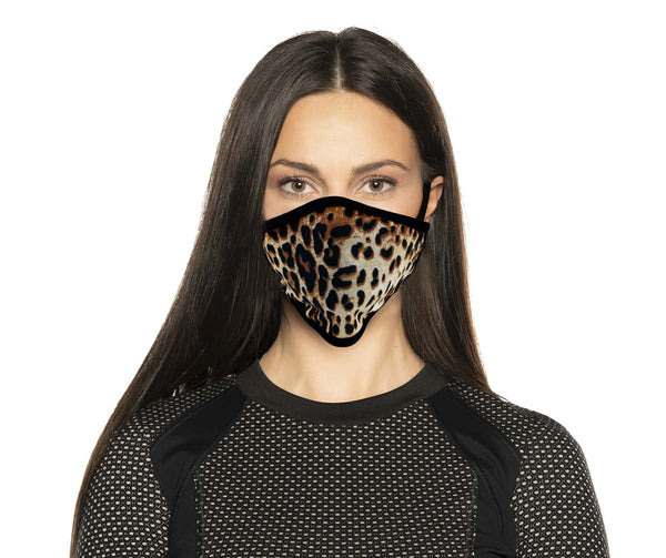 Xelement XS8005 'Leopard Print' USA Made 100 % Cotton Protective Face Mask