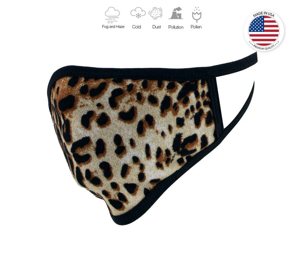 Xelement XS8005 (Multi-Pack) 'Leopard Print' USA Made 100 % Cotton Protective Face Mask
