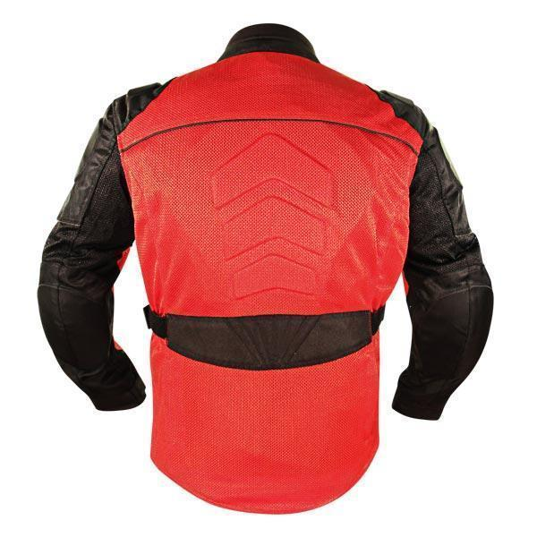 Xelement XS8161 'All Season' Men's Black/Red Tri Tex/Mesh Jacket