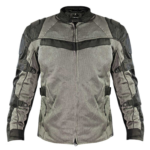 Xelement XS8162 Men's 'Venture' All Season Black with Grey Tri-Tex and Mesh Jacket with X-Armor Protection