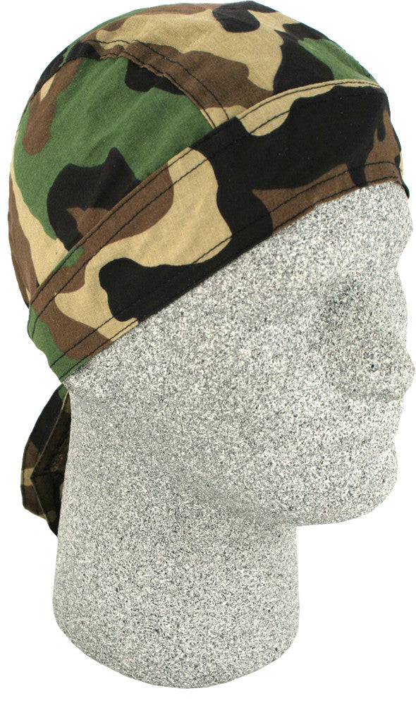 Zan Headgear Z118C 100 % Cotton Flydanna Headwrap  Woodland Camo Design