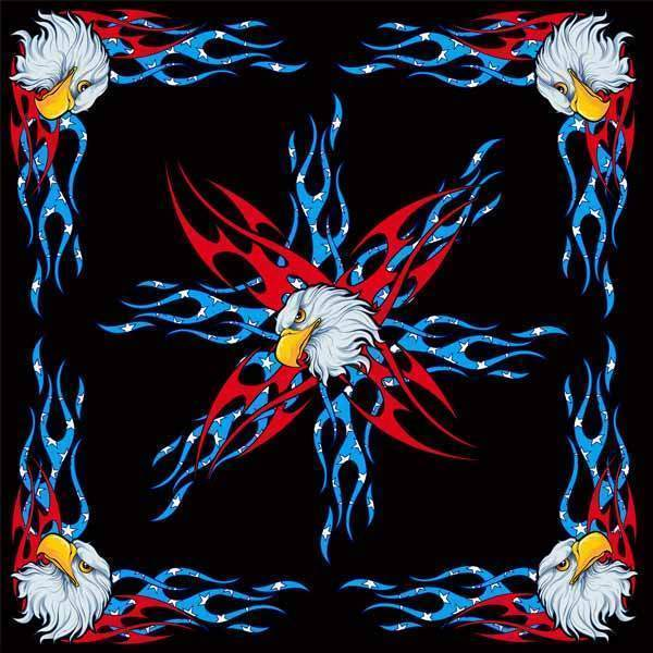 100% Cotton USA Eagle Bandanna