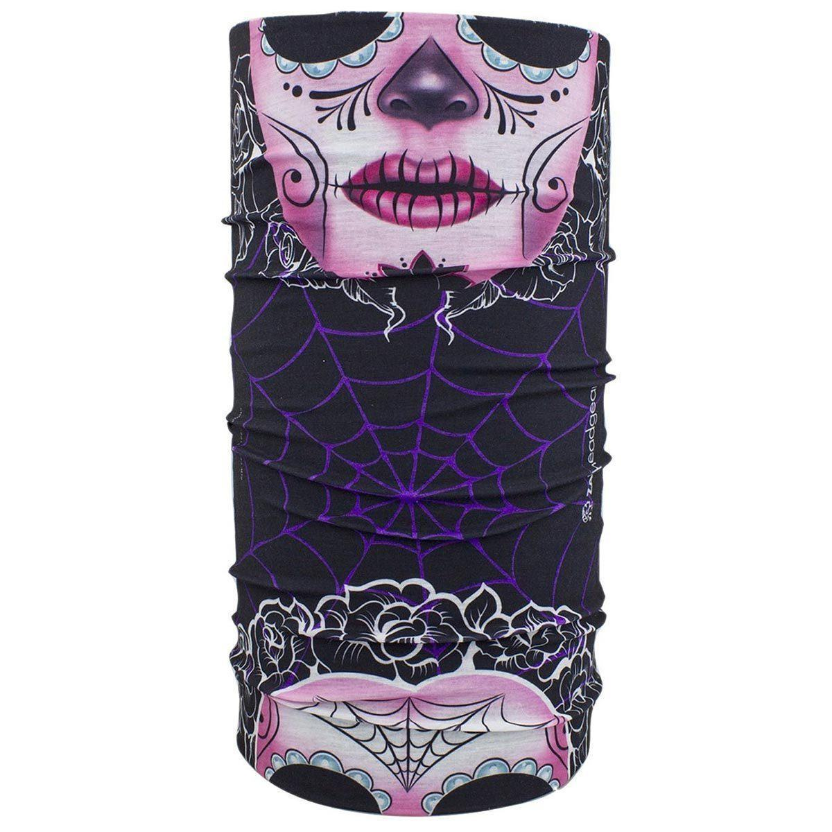 Zan Headgear Unisex Adult Motley Tube Polyester Sugar Skull Face Mask