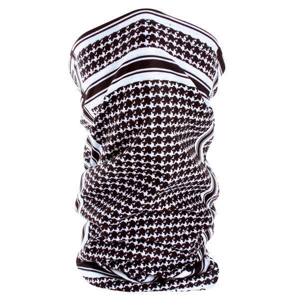 Zan Headgear Motley Tube, Polyester, Houndstooth, Black and White