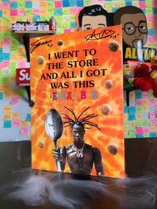 Signed Travis Scott Reese's puffs Cereal by Marco and Alvin