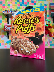 "Signed Travis Scott Reese's puffs Cereal by Marco and Alvin ""Family Size"""